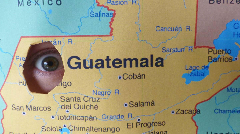 A sinkhole in Guatemala