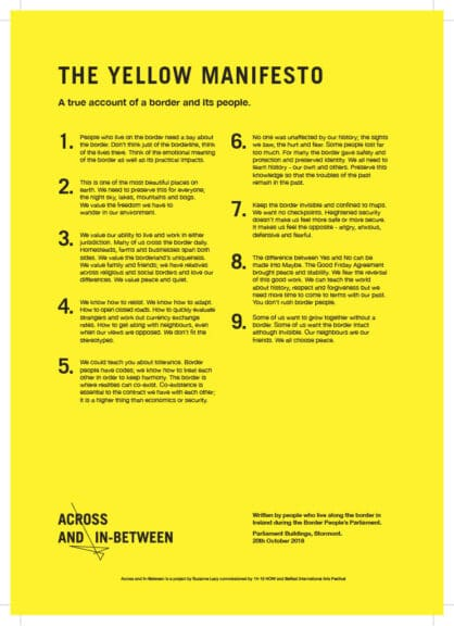 Across and InBetween_ Yellow Manifesto A4