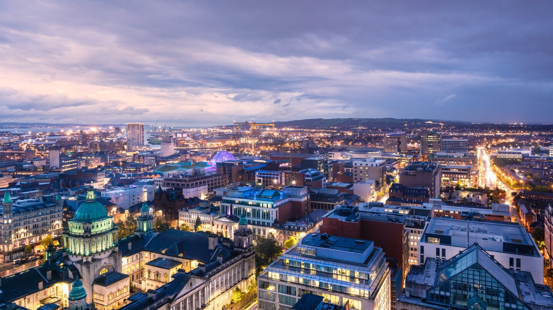 Belfast City Centre Skyline Eastwards. Photographer Christopher Heaney. Courtesy of Visit Belfast