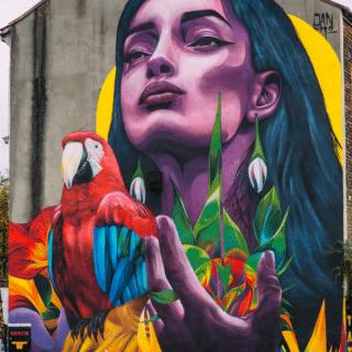 Belfast Street Art tour. FORZAN (Force) by Sancho MDN