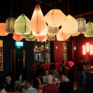 Diners enjoying the food and funly decor in Buba Belfast. Courtesy of Buba