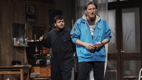 Laurence Kinlan and Adrian Dunbar