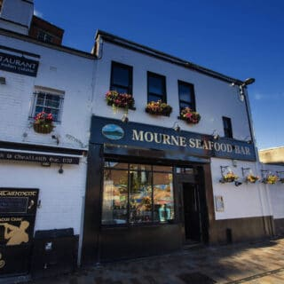 Exterior of Mourne Seafood Bar Belfast. Courtesy of Tourism NI