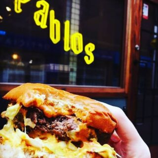 Big Bite Burgers from Pablos. Courtesy of Pablos Belfast