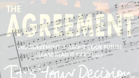 Singing The Agreement No Logos