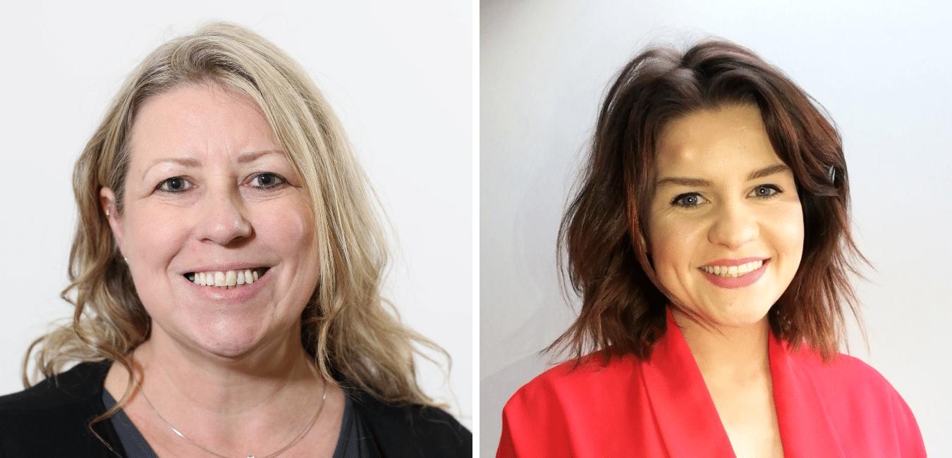 Kim Mawhinney and Sharon Doherty