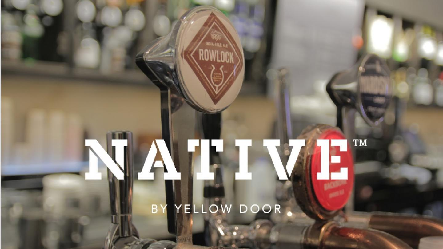 native by yellow door