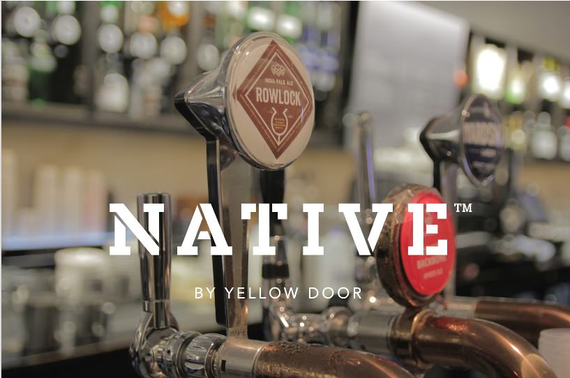 native by yellow door